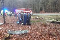 Dopravní nehoda na Výšince.