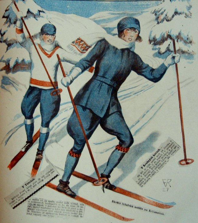 Kresba v Pražském ilustrovaném zpravodaji v roce 1927.