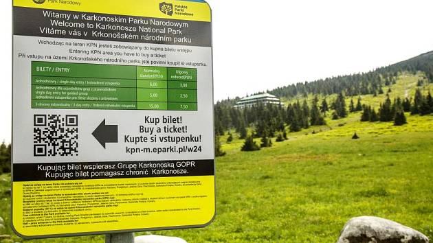 Za vstup na polské území Krkonoš zaplatíte šest zlotých