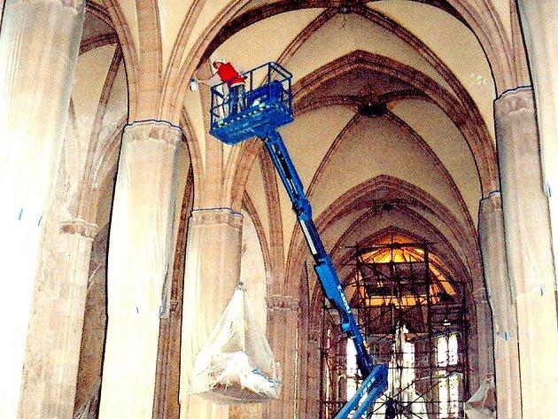 Oprava kostela sv. Vavřince