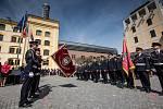Ze slavnostního shromáždění a oceňování hasičů na Pivovarském náměstí v Hradci Králové.