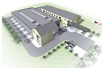 Vizualizace nové výrobní haly, která vznikne v Jablonci nad Jizerou.