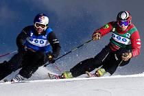 Čeští skikrosaři (zleva) Tomáš Kraus a Zdeněk Šafář.