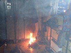 V kravíně hořelo technické zařízení
