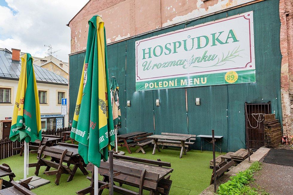 Hospůdka U rozmarýnku v centru Trutnova.