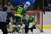 Vrchlabští hokejisté si s rivalem ze Dvora Králové nad Labem poradili i s pouhými třemi vstřelenými góly.