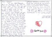 Indický student Joel Rozario poslal děkovný dopis do Úpice do lánské školy, která ho podporuje.