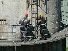 V elektrárně zachraňovali sebevraha. Cvičně.