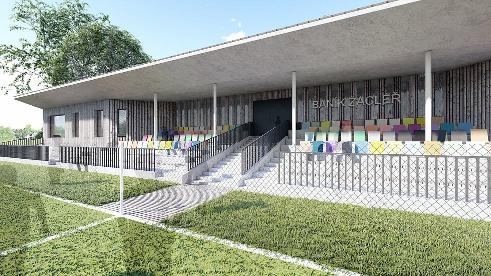 Studie pro rekonstrukci fotbalového stadionu v Žacléři.