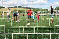 Vrchlabský fotbalový areál patřil dětem