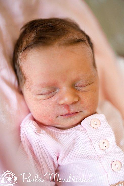 ELLA PATKOVÁ se narodila Kláře a Michalovi 29. září ve 13.08 hodin. Vážila 3,335 kilogramu a měřila 50 centimetrů. Rodina bude bydlet v Libštátu.