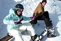 Zpěvačka Kamila Nývltová čerpala sílu na snowboardu
