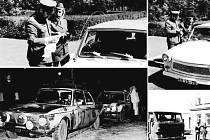 """VZPOMÍNÁTE? Ti, kteří přejížděli za minulého režimu státní hranice na Královci třeba poznají svého oblíbeného celníka. Spodní snímek je z roku 1976 ze sousedního Náchoda, kde celníci """"lustrovali"""" závodníky známého automobilového podniku Rally Monte Carlo."""