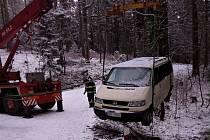 Dopravní nehoda u Chvalče