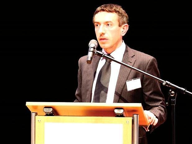 NA JUBILEJNÍM, DESÁTÉM EXPORTNÍM FÓRU v trutnovském Uffu vystoupil také analytik Patria Finance David Marek.
