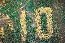 Na Bílém kopci nad Harrachovem září na podzim (k vidění je ale i v zimě) obří desítka. Byla vysázena v roce 1928 jako připomínka 10. výročí vzniku Československa. letos přibude další nula a vznikne tak stovka.