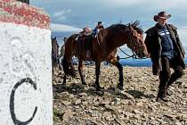 Na Sněžku vystoupala pětice jezdců v sedle koní