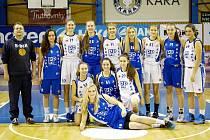 Extraligové kadetky basketbalového oddílu Kara Trutnov.