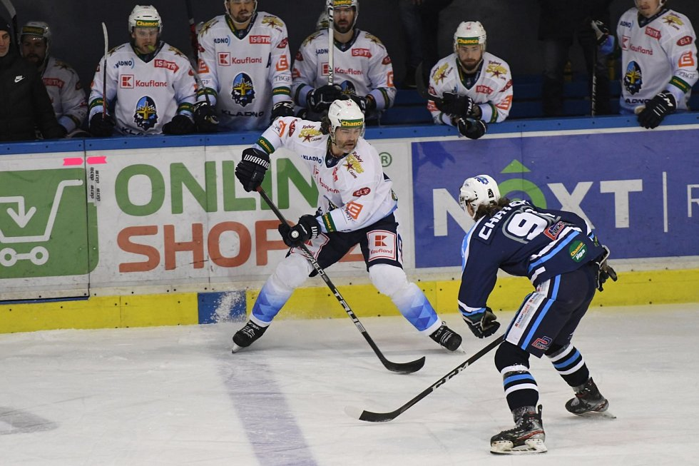 Hokejová Chance liga: HC Stadion Vrchlabí - Rytíři Kladno.