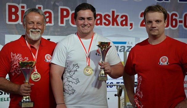 V POLSKU ZAZÁŘILI (zleva) Libor Hurdálek, Filip Pilný či Martin Hurdálek.