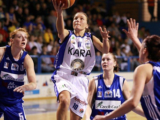 2. čtvrtfinále play off ŽBL: Kara Trutnov - BK Czech coal Aldast Strakonice.