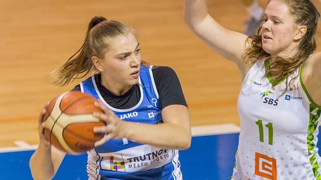 Hráčka Lokomotivy Trutnov Anna Rylichová nastřílela v Mladé Boleslavi 20 bodů, na výhru to nestačilo.