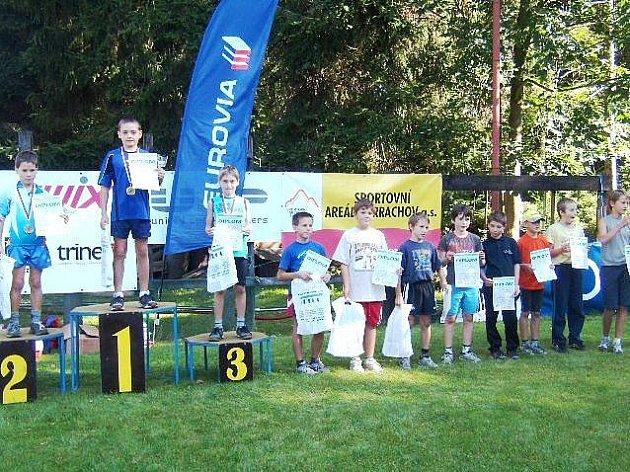 V KATEGORII 11 A 12 LET byli všichni nejlepší žáci odchovanci SKI klubu Harrachov.