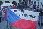 Příjezd olympioniků do Jilemnice.
