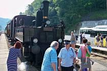 Historický vlak do Tanvaldu.