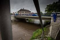 Déšť na Královéhradecku.
