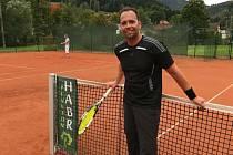 Předseda trutnovského tenisového oddílu Oldřich Martinec.
