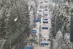 Kvůli poruše lanovky ve Špindlerově Mlýně vyráželi na místo hasiči.