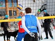 Ve Špindlu se hrál volejbalový šampionát na sněhu