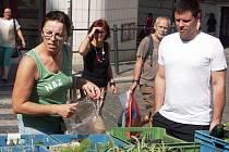 """""""TADY MÁM JISTOTU, že prodejci mají produkty z vlastní zahrady nebo z pole,"""" řekla nám kupující z Prahy."""