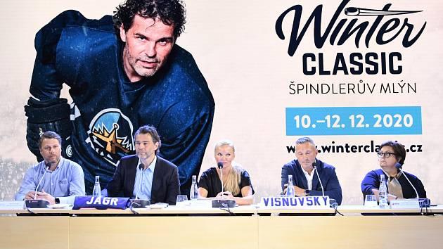Z tiskové konference k hokejovým zápasům Winter Classic ve Špindlerově Mlýně.