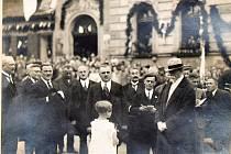Prezident T. G. Masaryk ve Dvoře Králové nad Labem, 10. července 1926.