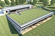 Takhle bude vypadat kryté aquacentrum ve Vrchlabí. Bude to originální stavba, zapuštěná do země.