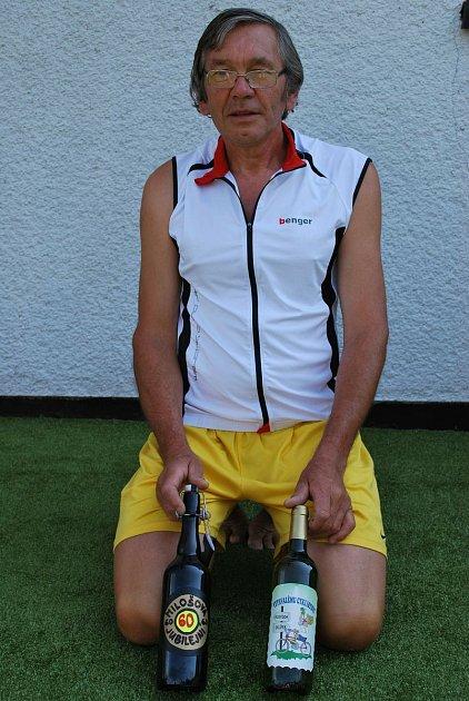 Miloslav Tohola, sportovní nadšenec vpokročilém věku.