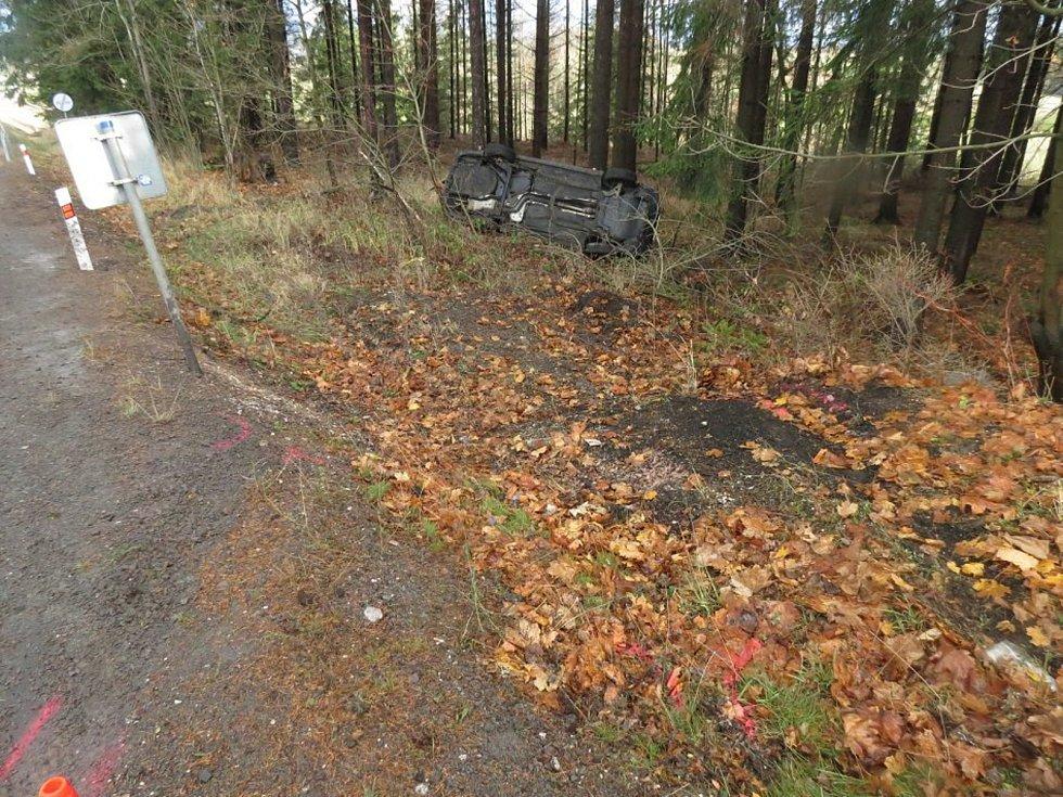 Nehoda mezi Dolní Brannou a Studencem.
