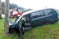 Havárie vozu při Úpici.