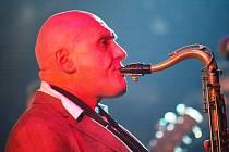 Saxofonista Štěpán Markovič.