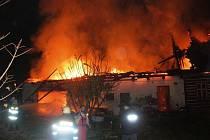 Požár domu v Rudníku