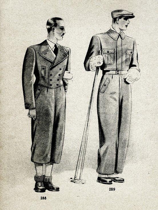 Pánský lyžařský oděv.