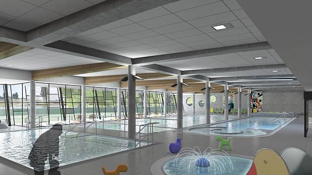 Krytý bazén ve Vrchlabí má mít čtyři plavecké dráhy na 25 metrů, cvičný bazén, relaxační bazén i více než 70 metrů dlouhý tobogán.