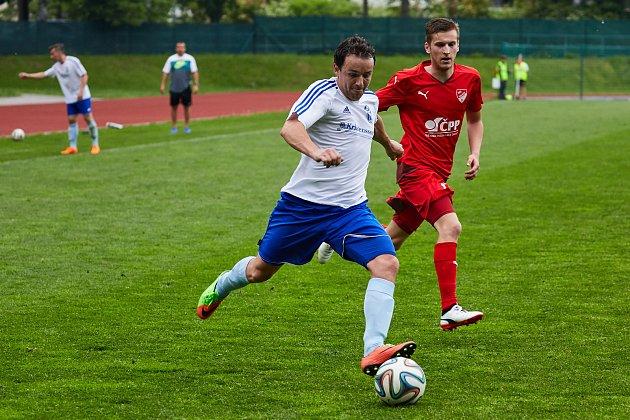 Z divizního utkání Trutnov - Mšeno (2:2, na penalty 5:4)