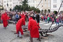 Sundávání draka v Trutnově, září 2012