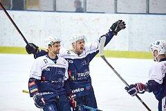 Druholigové hokejové derby Trutnov - Vrchlabí (7:0).