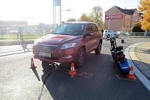 Nehoda elektrokoloběžky v Trutnově
