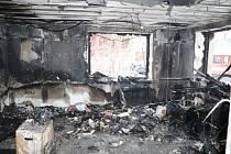 Pondělní požár rodinného domu v Rudníku.