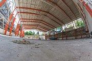 Rekonstrukce sportovní haly Gymnázia Trutnov.